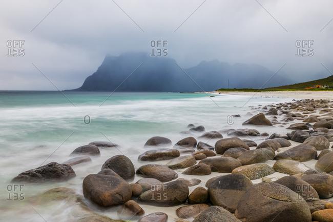 Uttakleiv beach, Lofoten Island, Norway