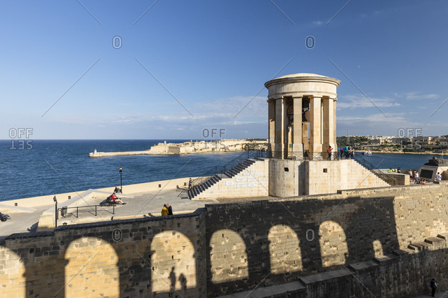October 28, 2017: Siege Bell War Memorial, designed by Michael Sandle, La Valletta, Malta