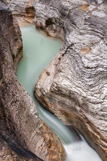 Marmitte dei Giganti or Santa Lucia rapids in the Orta gorge, Majella national park, Abruzzo, Italy, Europe