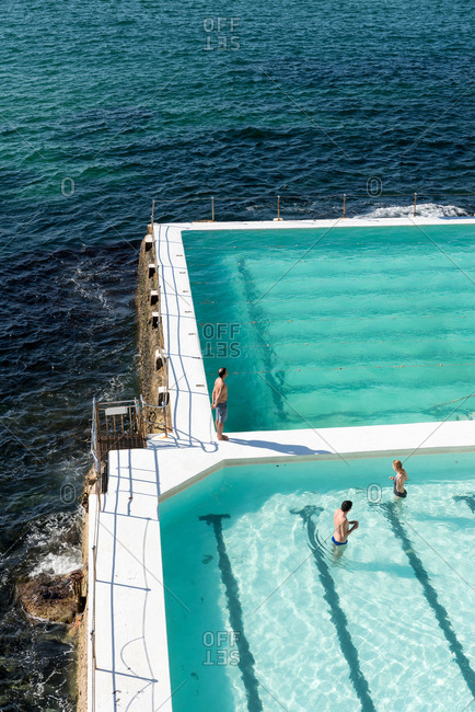 July 29: Outdoor swimming pool at Bondi beach in Sydney, Australia