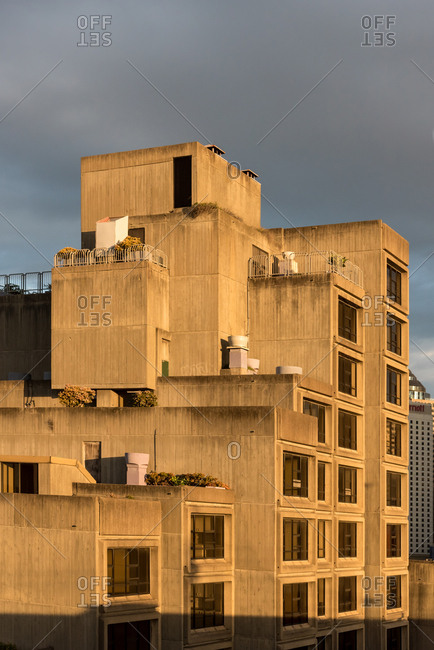 July, 28: Old industrial building at sunset in Sydney, Australia