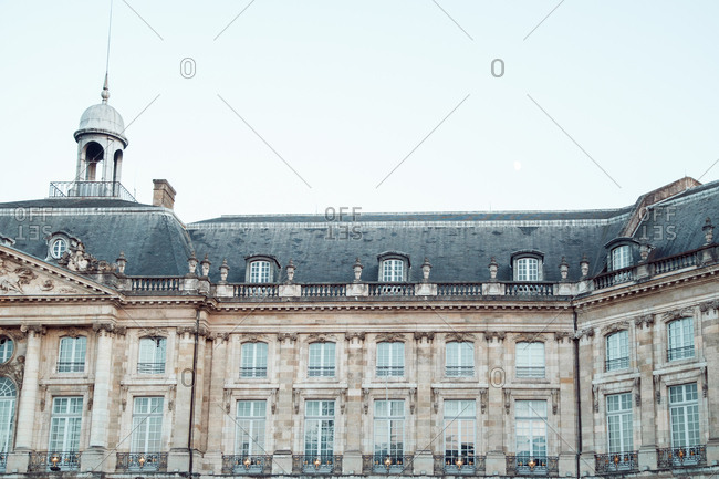 Exterior of french classical building