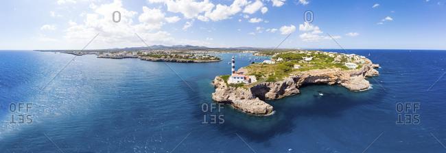 Spain- Mallorca- Portocolom- Punta de ses Crestes- Cala Parbacana- Lighthouse