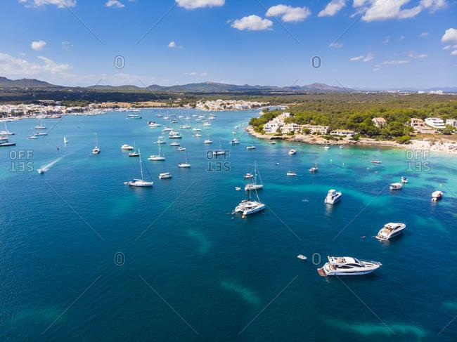 Spain- Mallorca- Portocolom- Punta de ses Crestes- Bay of Portocolom
