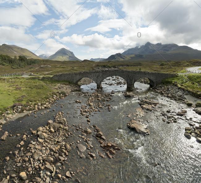 UK- Scotland- Isle of Skye- Sligachan- bridge
