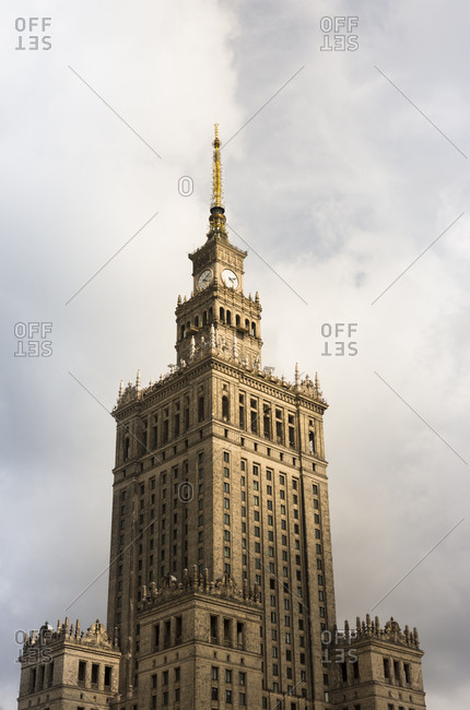 Poland- Warsaw- view to Palace of Culture and Science