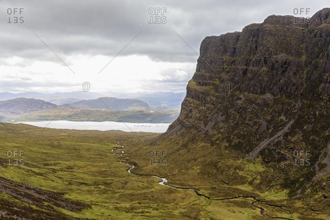 UK- Scotland- Wester Ross- Applecross peninsula- Bealach na Ba mountain pass