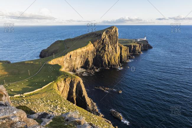 UK- Scotland- Inner Hebrides- Isle of Skye- lighthouse at Neist Point