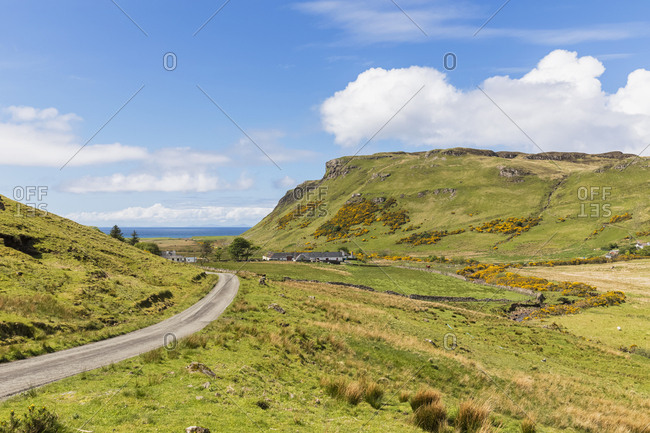UK- Scotland- Inner Hebrides- Isle of Skye- road to Talisker Bay