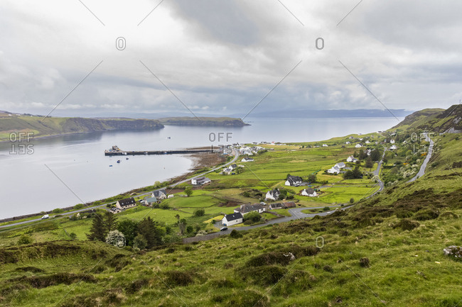 UK- Scotland- Inner Hebrides- Isle of Skye- Trotternish- Uig Bay- Uig