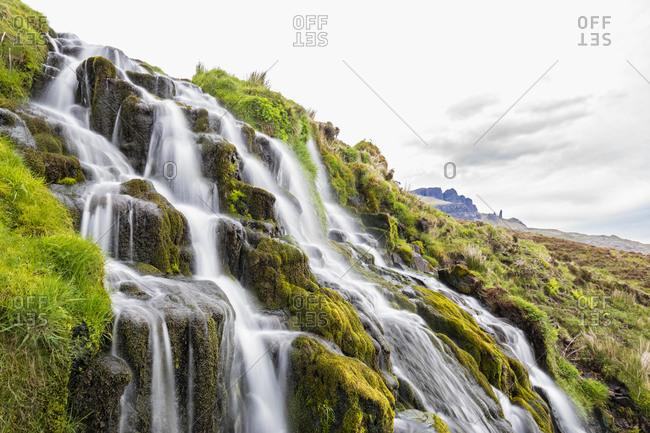 UK- Scotland- Inner Hebrides- Isle of Skye- Brides Veil Waterfall