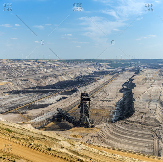 Germany- Garzweiler surface mine- giant excavator