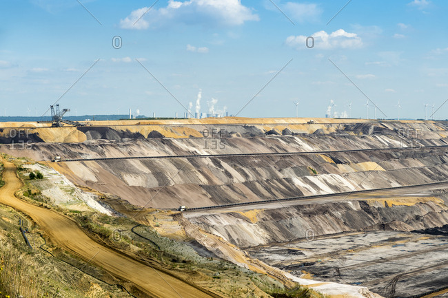 Germany- Garzweiler surface mine with power stations  Frimmersdorf- Neurath and Niederaussem