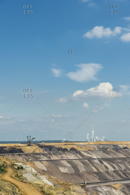 Germany- Garzweiler surface mine with power stations Frimmersdorf and Neurath