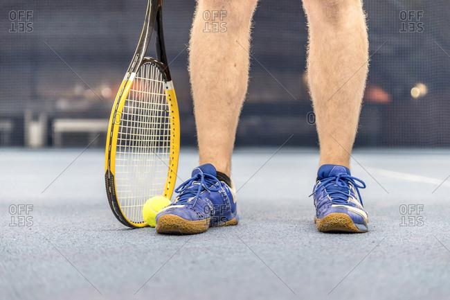 Legs of an tennis player