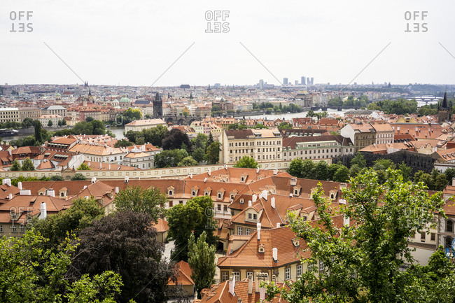 Czechia- Prague- view to the city from Hradcany
