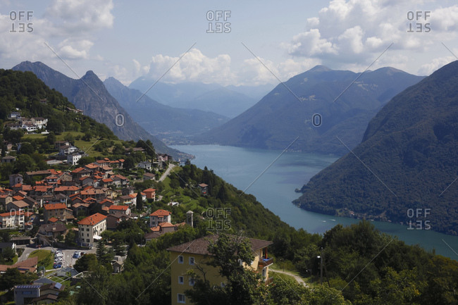 Switzerland- Lugano- view to Bre village