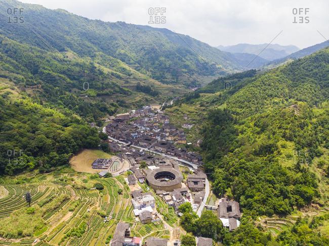 China- Fujian Province- tulous in a Hakka village