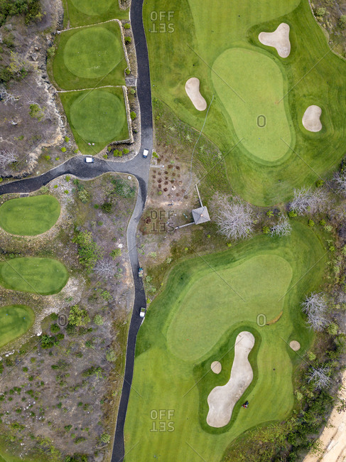 Indonesia- Bali- golf course at Payung beach