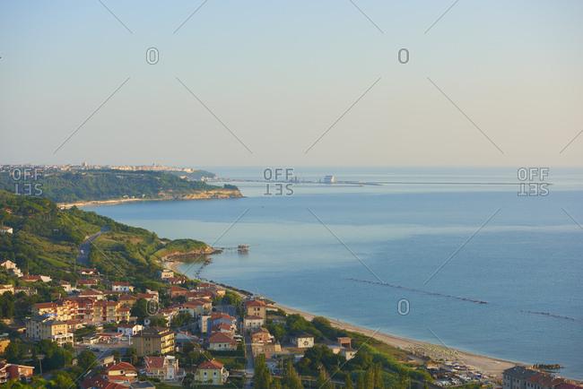 July 14, 2018: Italy- Abruzzo- San Vito Chietino- Trabocchi coast
