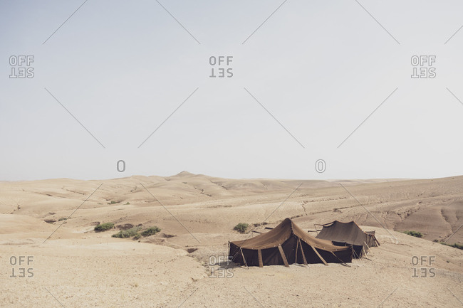 Morocco- tents in the desert