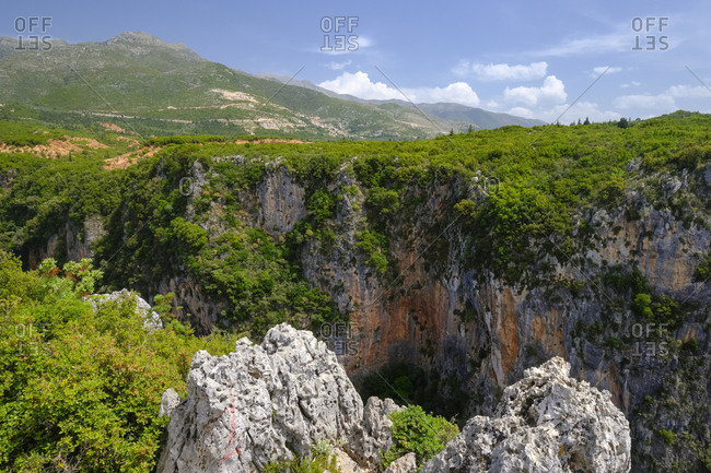 Albania- Vlore County- Canyon of Gjipe