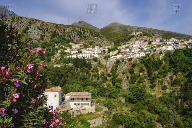 Albania- mountain village Dhermi-Fshat near Himara