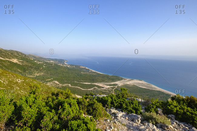 Albania- Ionean sea- Albanian Riviera- view from Llogara Pass