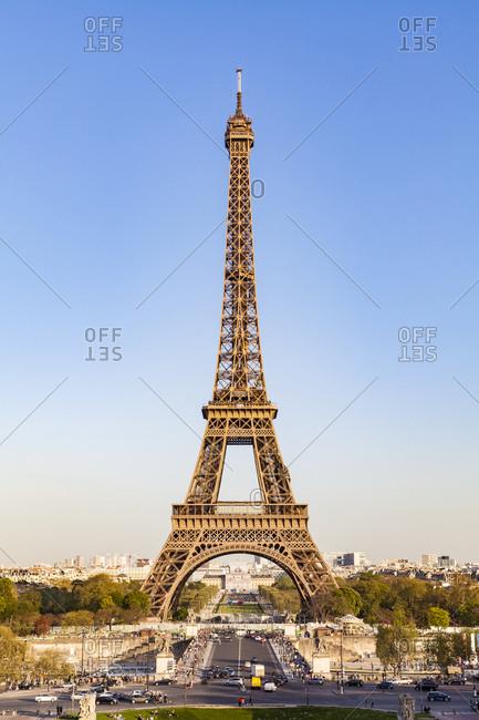 France- Paris- Eiffel Tower- Pont d'lena- Place de Varsovie