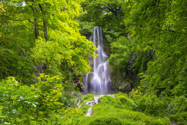Germany- Bad Urach- Swabian Alb- Urach waterfall