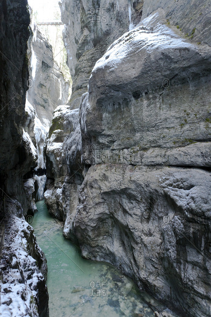 Germany- Garmisch-Partenkirchen- View of icicles in partnachklamm gorge