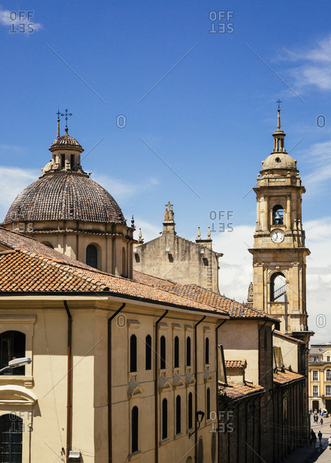 January 29, 2018: Cathedral Primada de Colombia, La Candelaria, Bogota, Colombia.