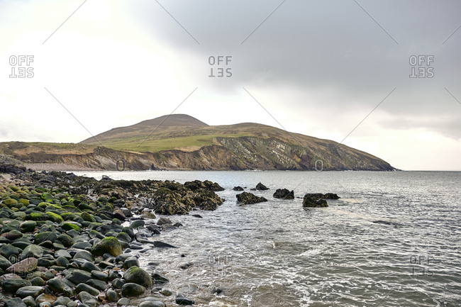 Beach near Minard castle on cloudy day, co. kerry, Ireland, Europe, 2018