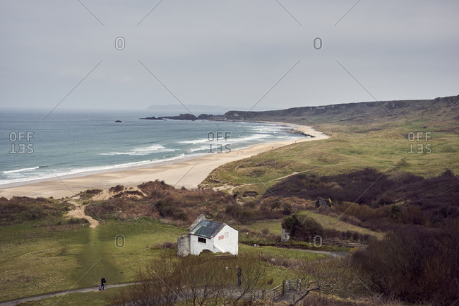 Beautiful beach of White park bay near Bushmills, Northern Ireland, United Kingdom, 2018
