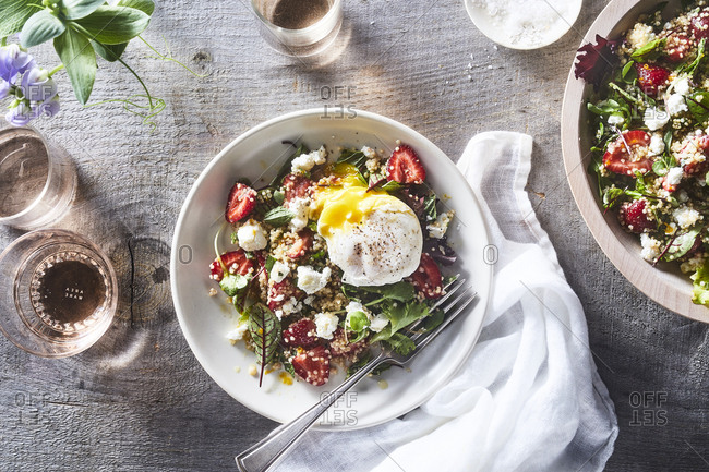 Strawberry quinoa salad from above