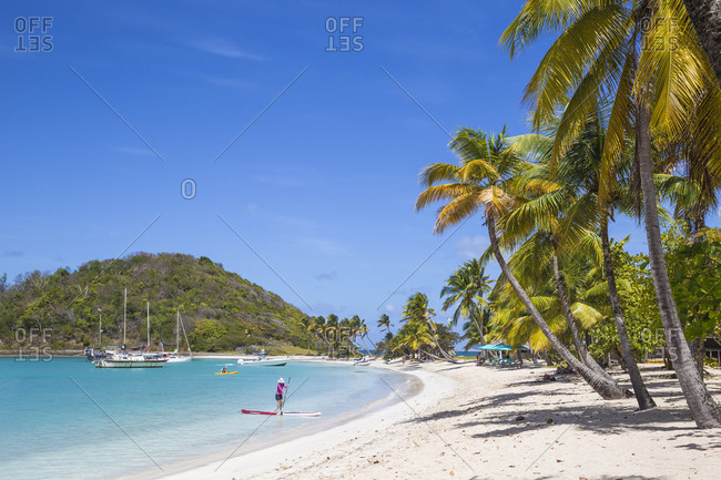 February 17, 2018: Saltwhistle Bay, Mayreau, The Grenadines, St. Vincent and The Grenadines, West Indies, Caribbean, Central America