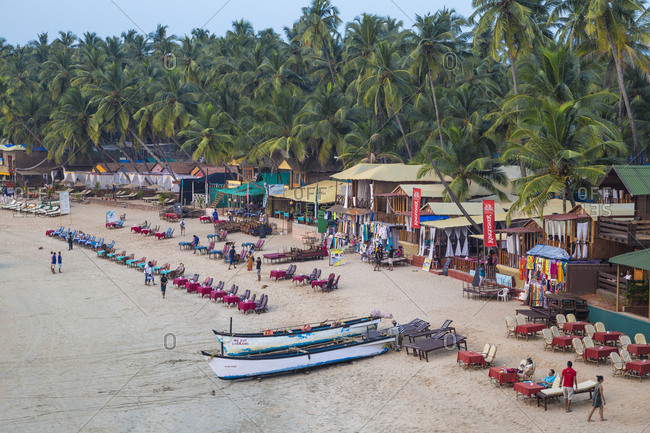 December 14, 2017: Palolem Beach, Goa, India, Asia