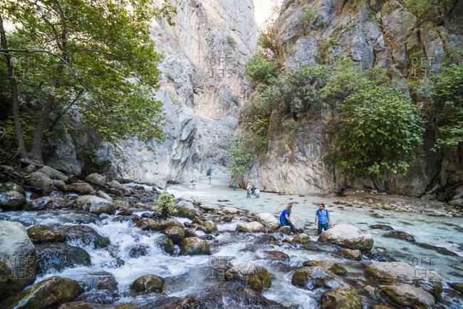 October 4, 2017: Saklikent Gorge, Saklikent National Park, Fethiye Province, Lycia, Anatolia, Turkey, Asia Minor, Eurasia