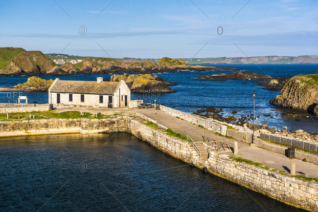 Ballintoy Harbour, Country Antrim, Ulster, Northern Ireland, United Kingdom, Europe