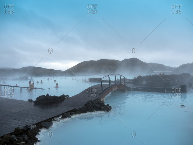 January 25, 2017: Blue Lagoon at Keflavik close to Reykjavik, Iceland, Polar Regions