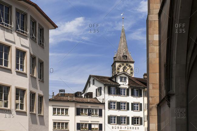 May 27, 2016: Switzerland, Zurich canton, city of Zurich, the old town