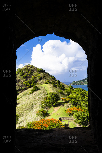 National Park of Pigeon Island, Fort Rodney, Sainte-Lucia, West Indies