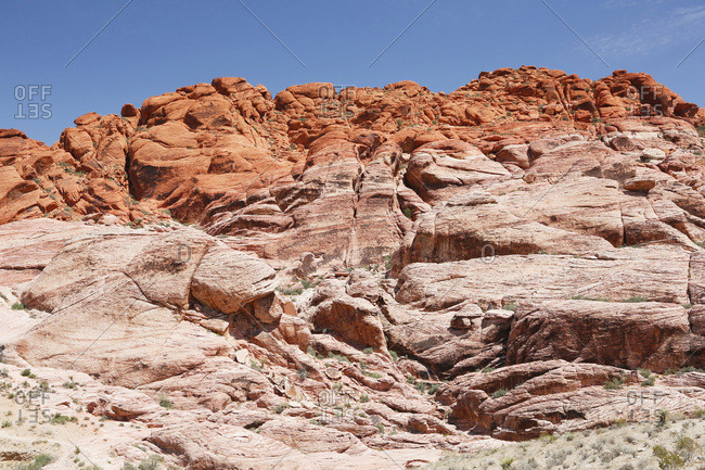 USA. Nevada. Las Vegas. Red Rock Canyon National Conservation Area. View from Calico I.