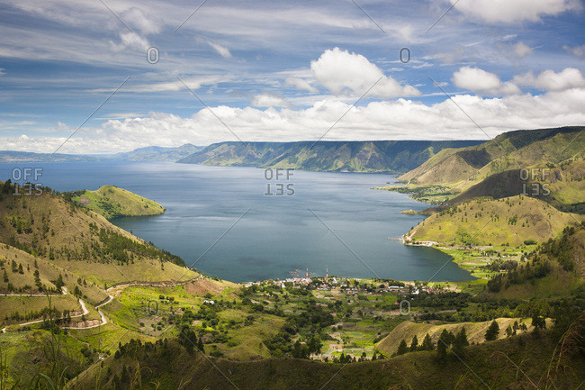 Toba Volcanic Lake, Sumatra, Indonesia; the largest volcanic lake in the world