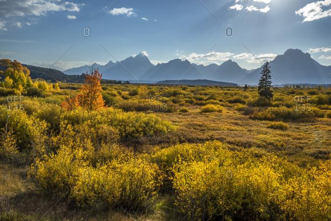 USA, Wyoming, Grand Teton National Park, Teton Range