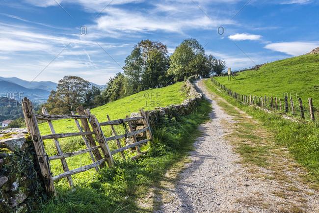 Spain, Navarre, Baztan valley, Amaiur, track (Way of Saint James)