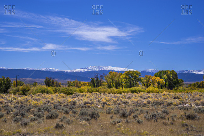 USA, Utah , autumn landscape round Manila