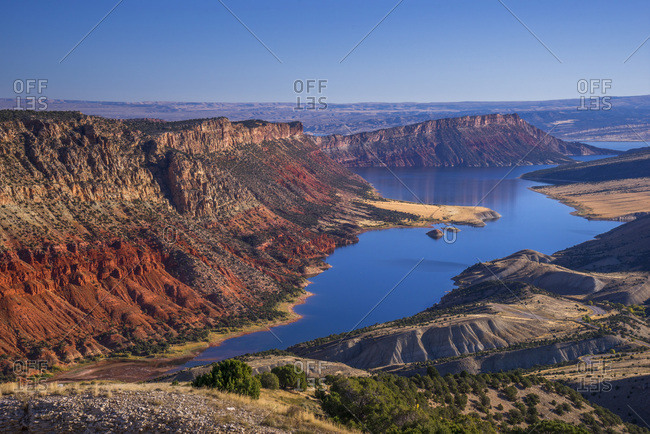 USA, Utah , Flaming Gorge National Recreation Area , Sheep Creek Overlook