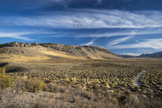 USA, California, the road to Mono Lake
