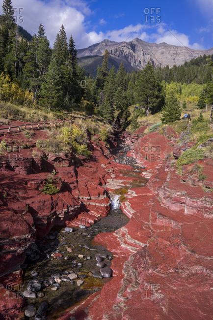 Canada, Alberta,Waterton Lakes National Park, Red Rock Canyon/